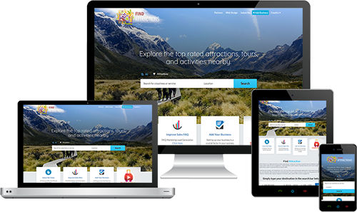 Find Attractions displayed beautifully on multiple devices